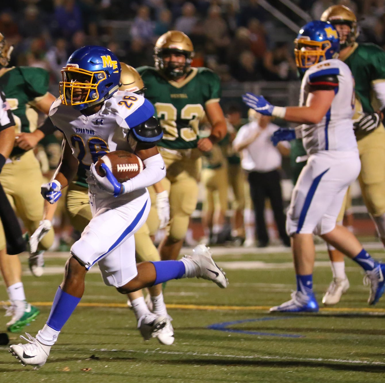 H.S. Football: M-E earns 38-32 victory at Vestal