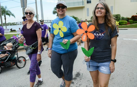 Hundreds of Brevardians participate in the Walk to End Alzheimer's Saturday in Cocoa Village.