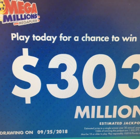 Mega Millions jackpot soars past $300 million