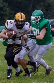 Paint Valley defeated Huntington 58-24 at Myrl Shoemaker Athletic Complex Friday night to go on and keep the competitive Maple Leaf Trophy.