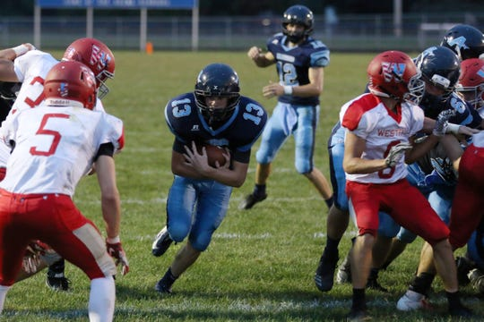 Adena defeated Westfall Friday night 28-13 in Frankfort, Ohio.