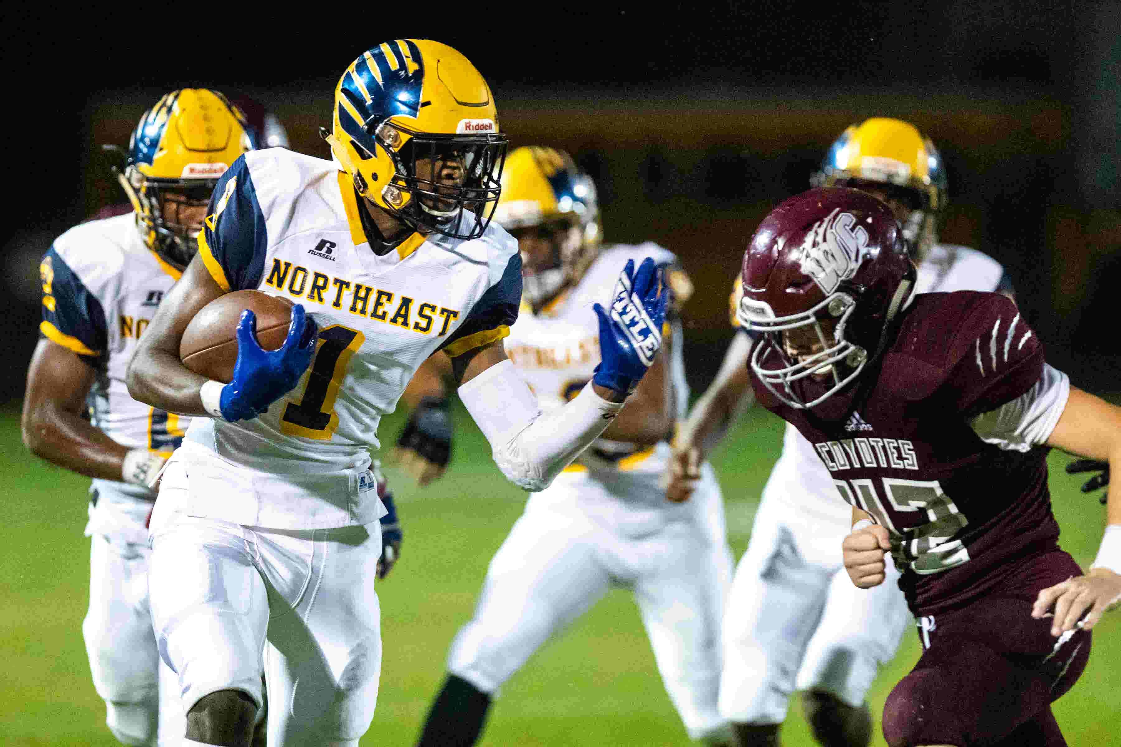clarksville high football vs northeast top high school week 7 game