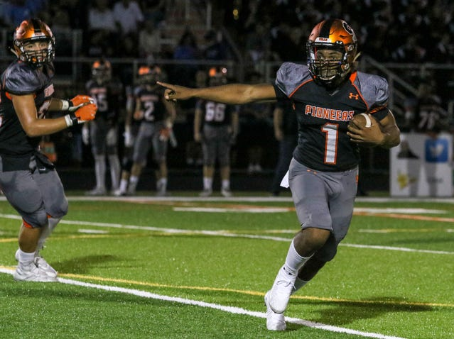 Somerville vs. Voorhees during the first half of a  football at Somerville High School on September 21, 2018.  Alexandra Pais/ for the Courier News