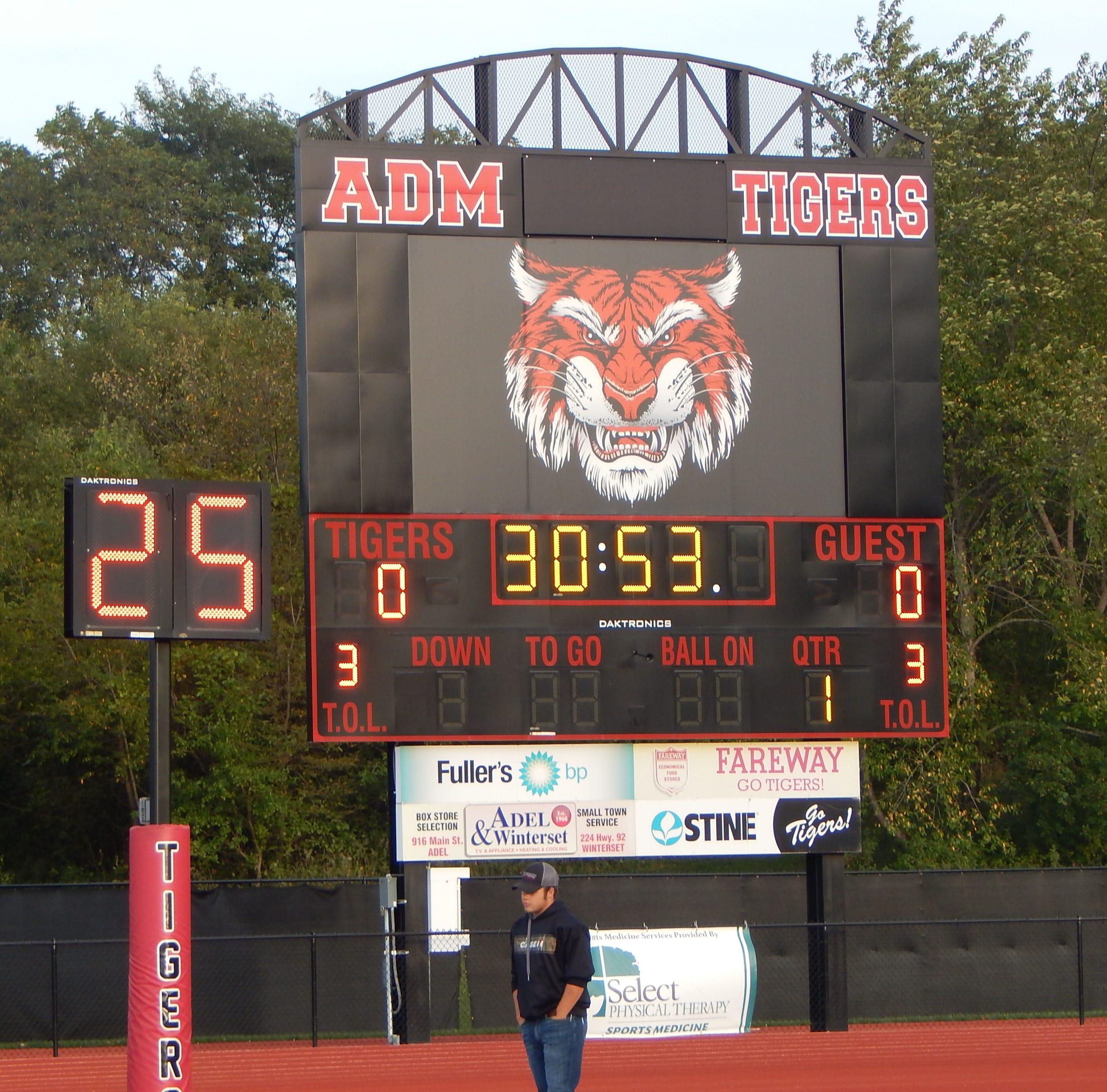 ADM of Adel scoreboard