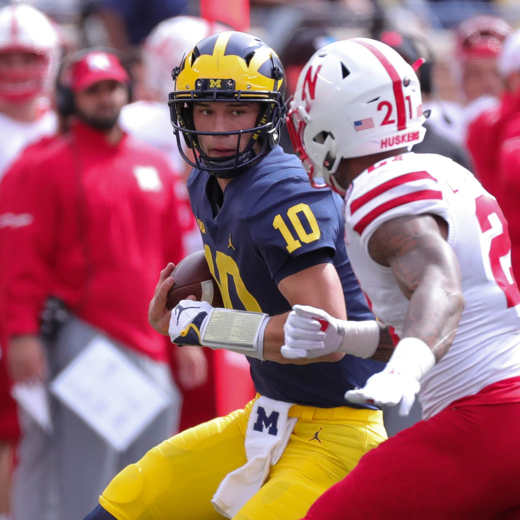 Michigan QB Dylan McCaffrey: 'It's never too big for him'