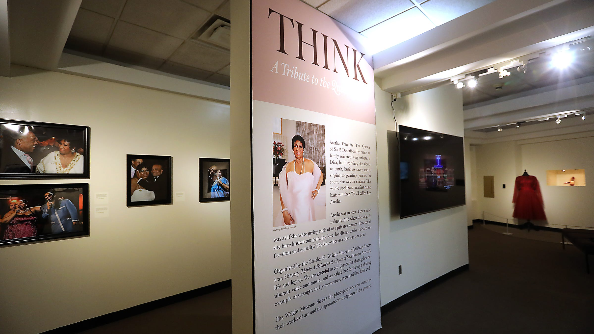 """A new exhibit about Aretha Franklin, """"Think: A Tribute to the Queen of Soul"""", is at the Charles H. Wright Museum of African American History in Detroit on Friday, Sept. 21, 2018."""