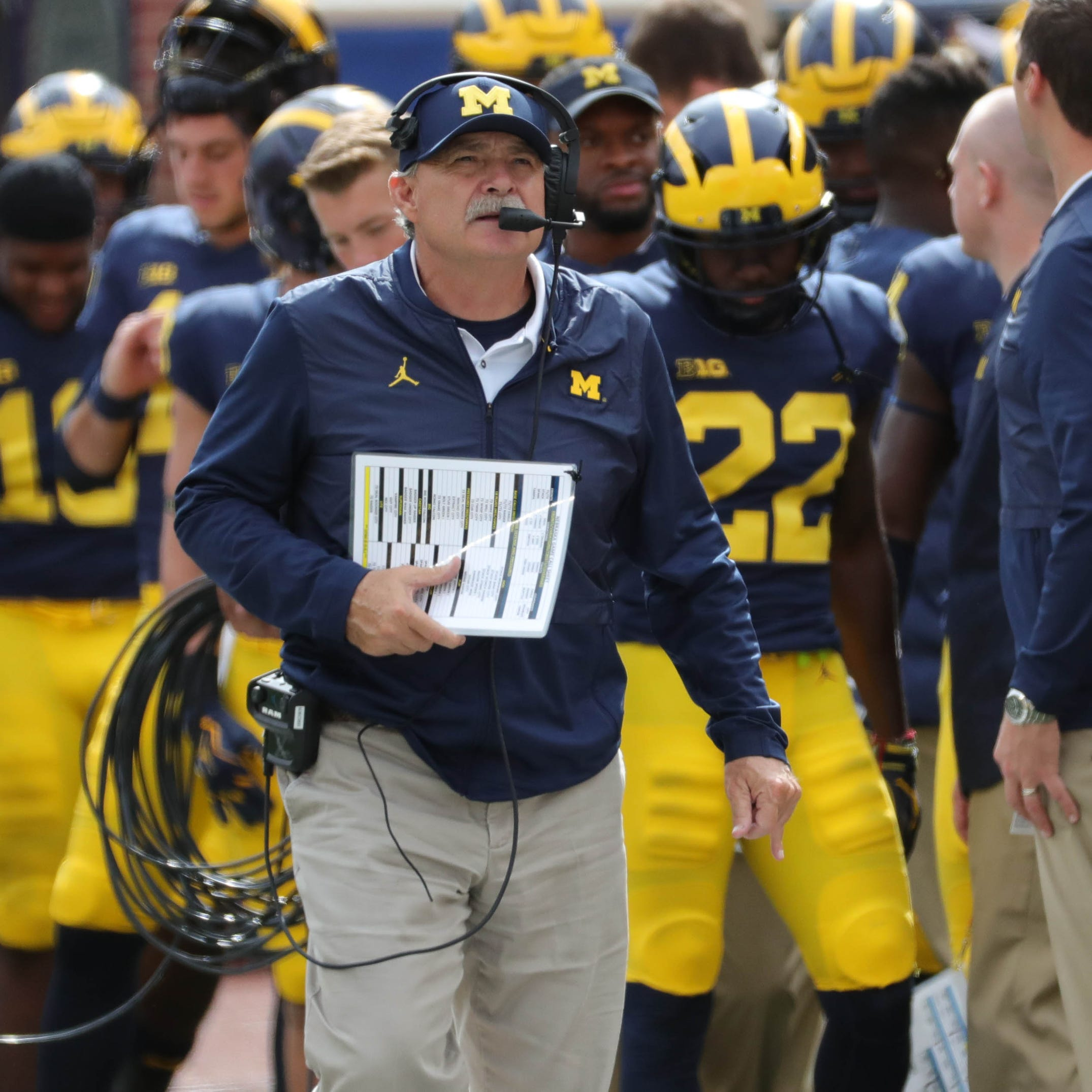 Michigan's Don Brown tries to curb targeting, juggles fine line