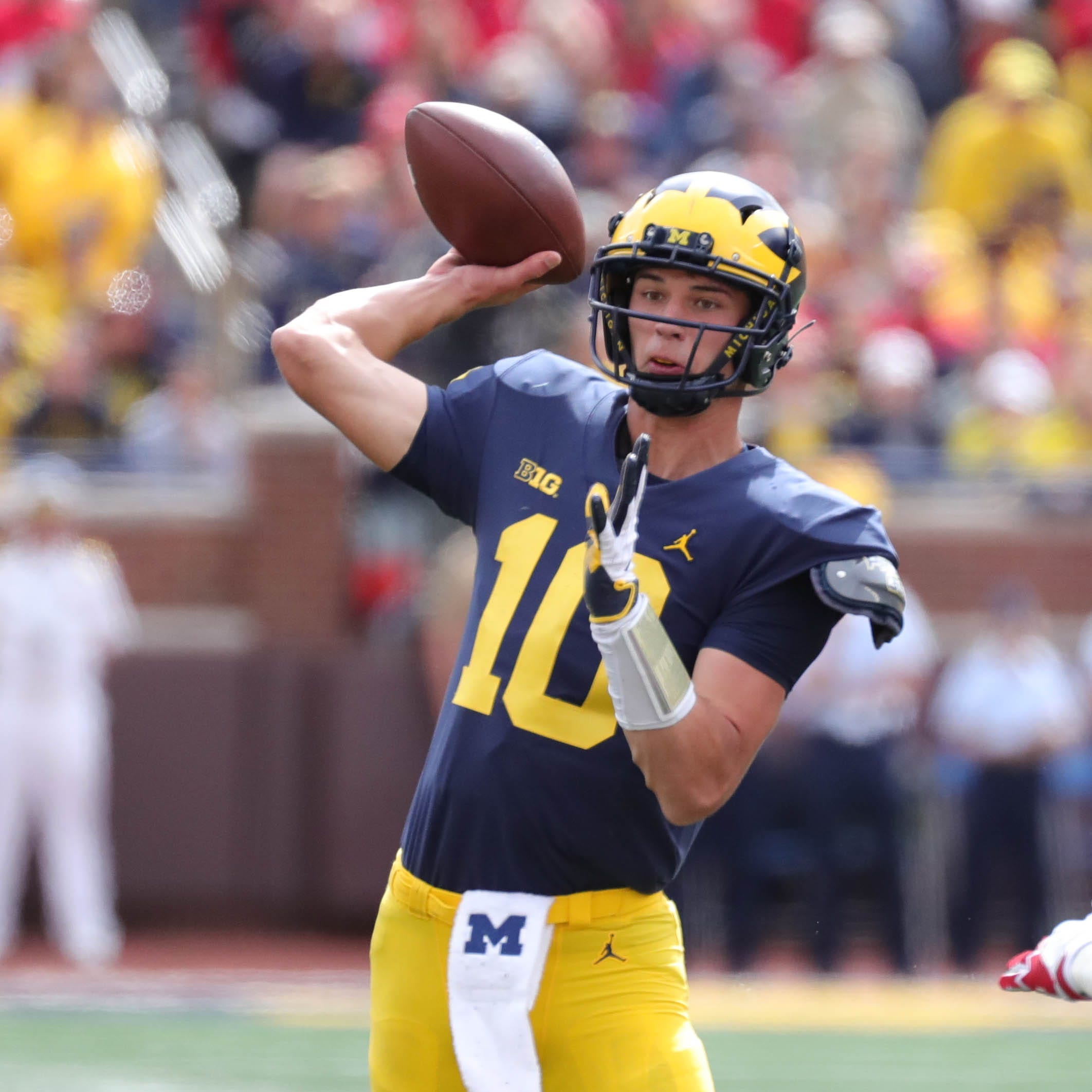 Michigan football quarterback Dylan McCaffrey embraces his role