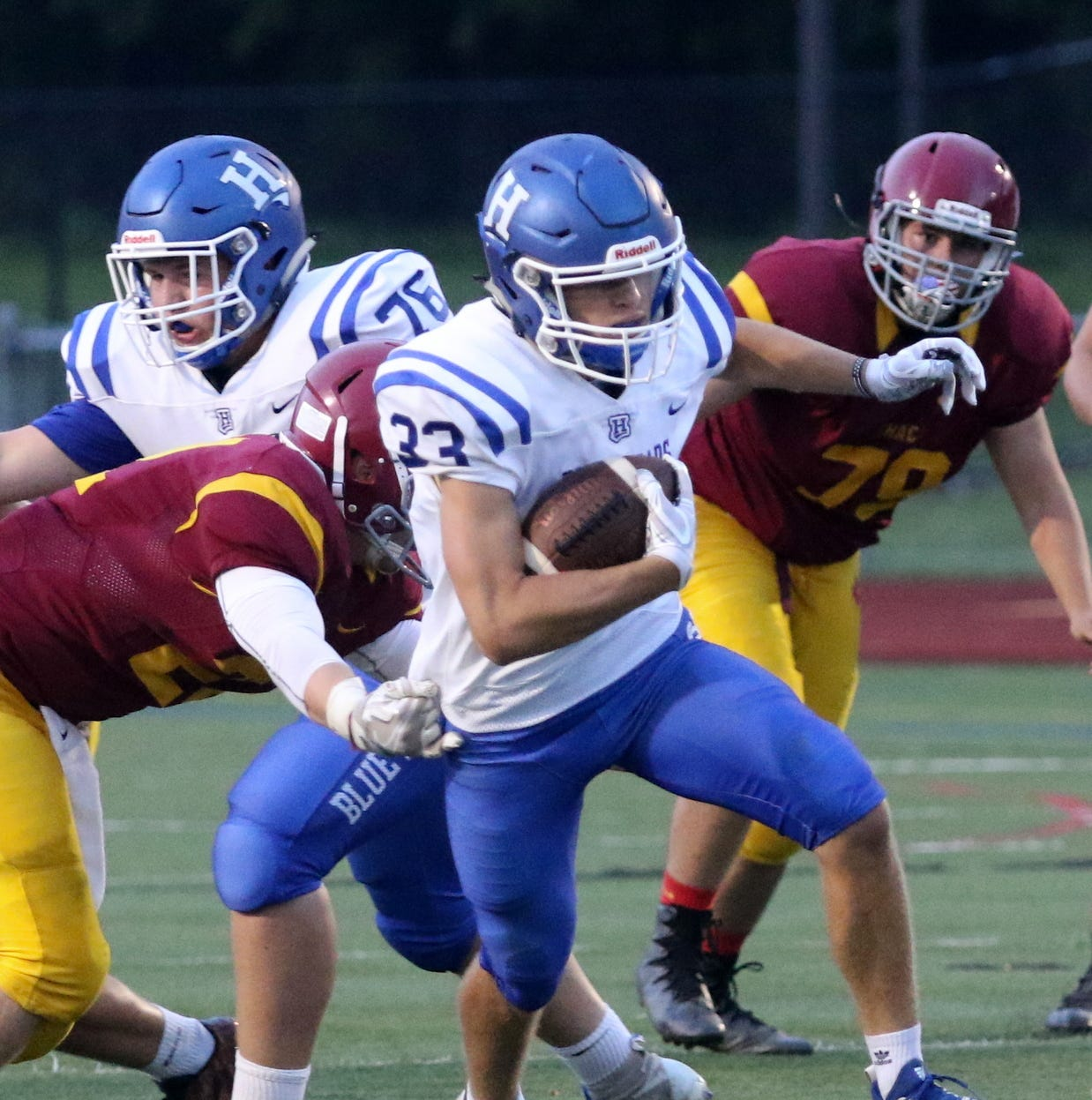 JV call-up Riley Loomis runs for 232 yards as Horseheads rolls past Ithaca