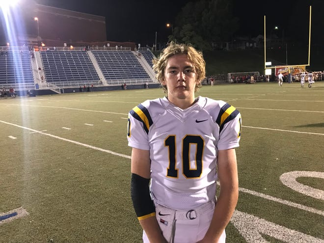 Cameron Justus threw for three touchdowns and caught a pass for another score in Castle's 39-24 victory over Mater Dei on Friday night.