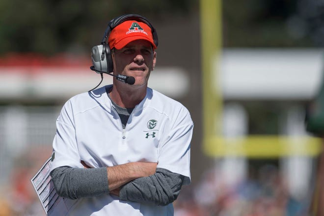 CSU's Mike Bobo, shown during a Sept. 22 loss to Illinois State at Canvas Stadium, remains the highest-paid coach in the Mountain West with his annual salary of $1.8 million, according to a USA TODAY Sports database that was updated Wednesday.