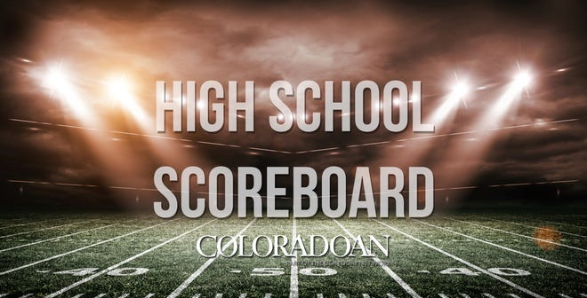 High school scoreboard.