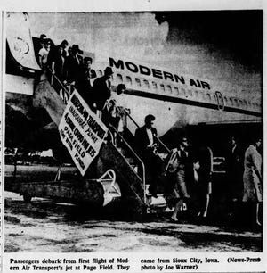 According to Charles Cavanaugh, the GALC's former national flight director, to save the TGA flight program, the chartered Modern Air transports had to be flown directly into Fort Myers.