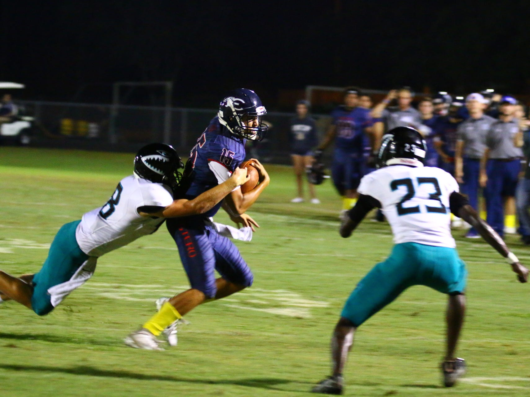 Gulf Coast visited Estero on Friday, Sept. 21 and picked up a high school football win.