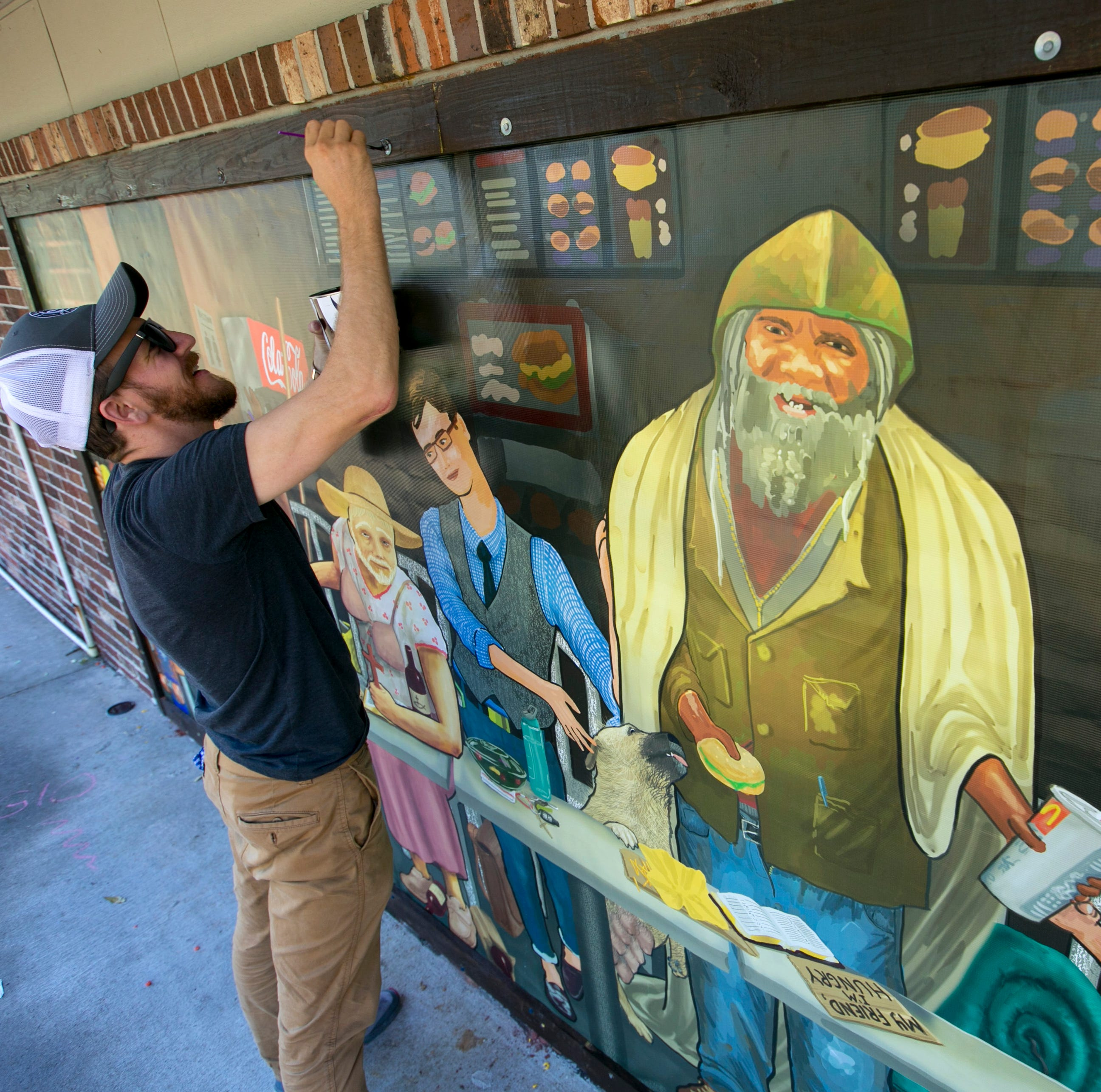 'Last Supper' mural in Fort Myers shows homeless Jesus, offers message of acceptance
