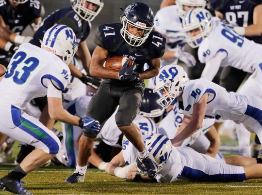 Bay Port running back Isaiah Gash and his teammates have dealt with a running clock in each of their first eight games this season.