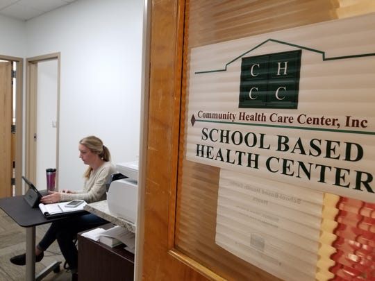 Community Health Care Center physician assistant, Catie Williams spends one day a week at a satellite clinic at Paris Gibson Education Center. The clinic provides urgent care, sports physicals and can test for the flu and strep among other services.