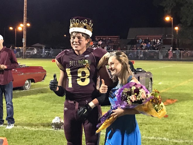 Shane Willekes and Katie Beiler were named king and queen of Choteau's Homecoming festivities during halftime of Friday's Choteau-Centerville game.