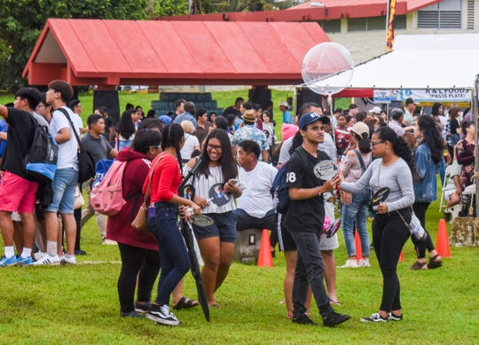 Local residents attend Guam's first Korean Festival at Gov. Joseph Flores Beach Park on Saturday, Sept. 22, 2018.
