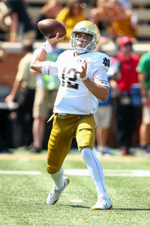 Notre Dame Fighting Irish quarterback Ian Book accounted for five touchdowns against Wake Forest.