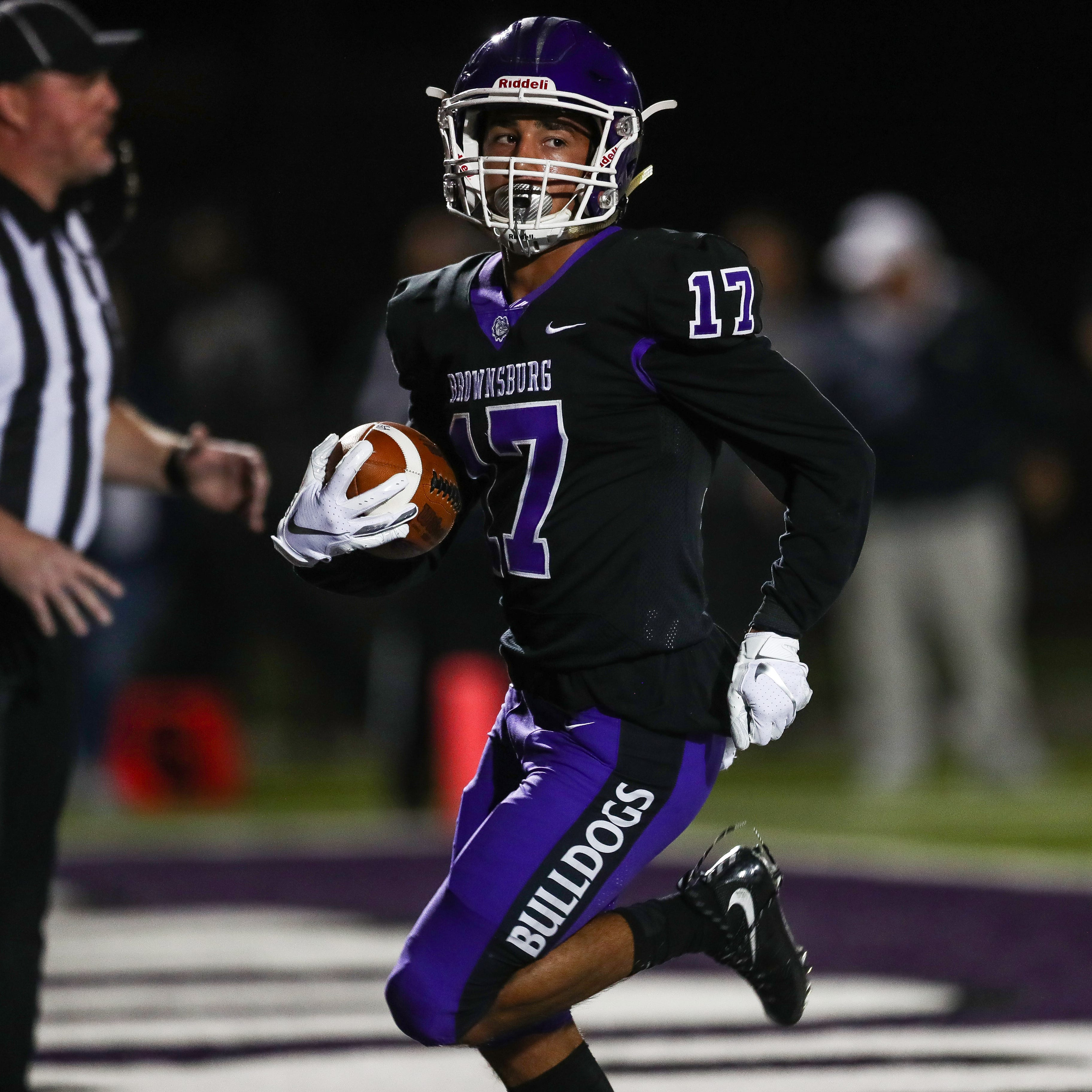 FILE – Brownsburg's Bryce Kirtz had a big night against Westfield on Friday.