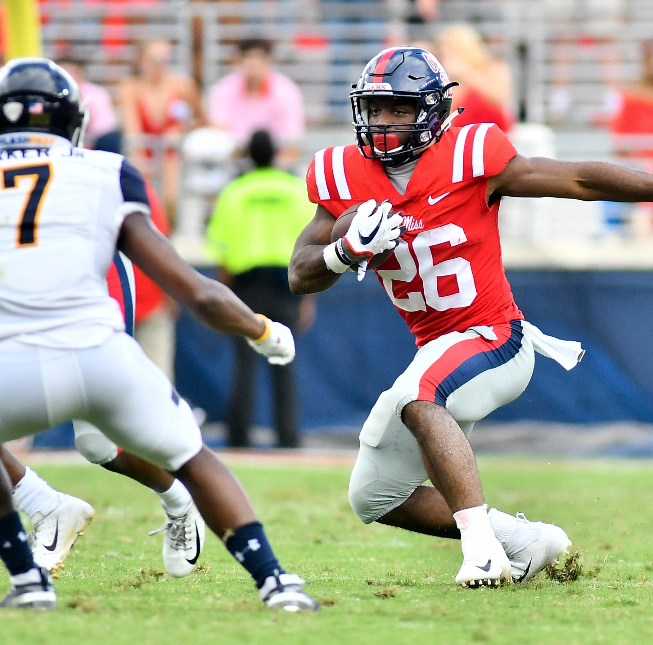 Ole Miss RB Isaiah Woullard steps up after Scottie Phillips' injury