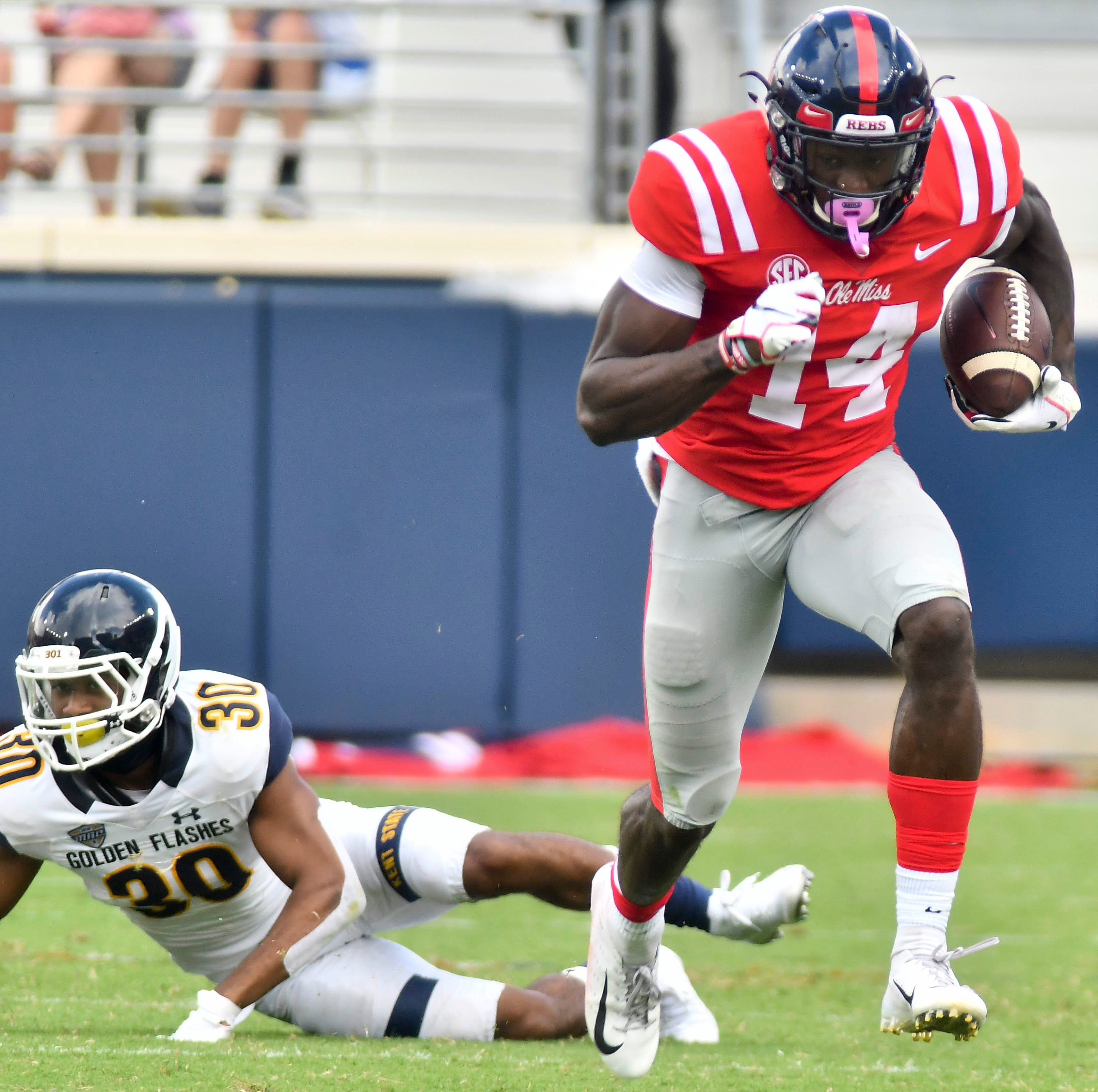 Ole Miss WR D.K. Metcalf out for season with neck injury sustained vs. Arkansas