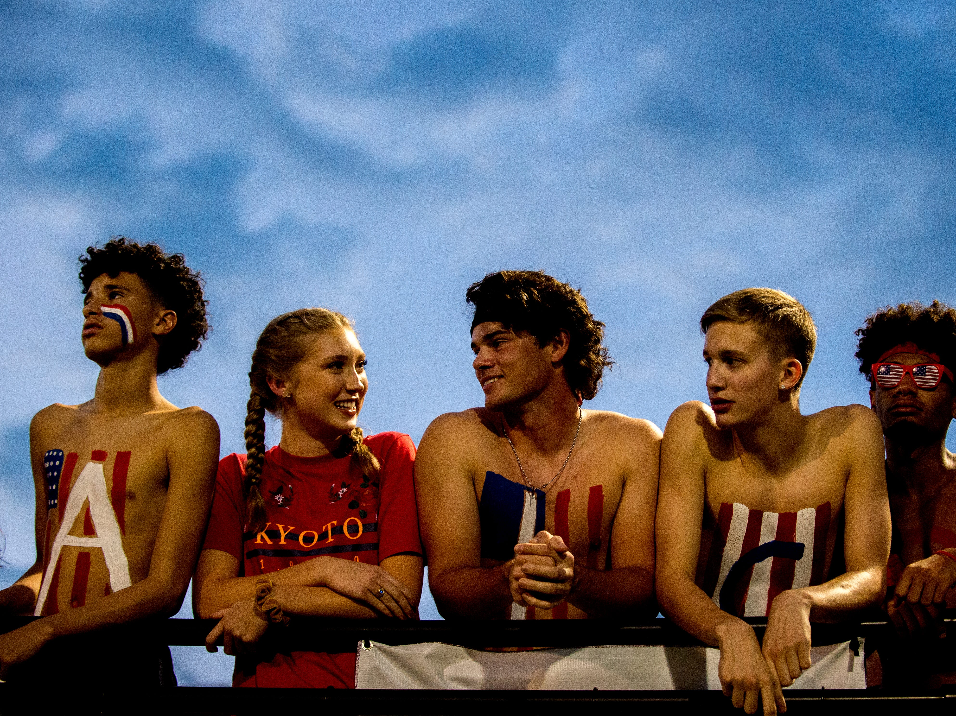 Alcoa fans hang out in the stands during a game between Alcoa and Dobyns-Bennett at Alcoa High School in Alcoa, Tennessee on Friday, September 21, 2018.