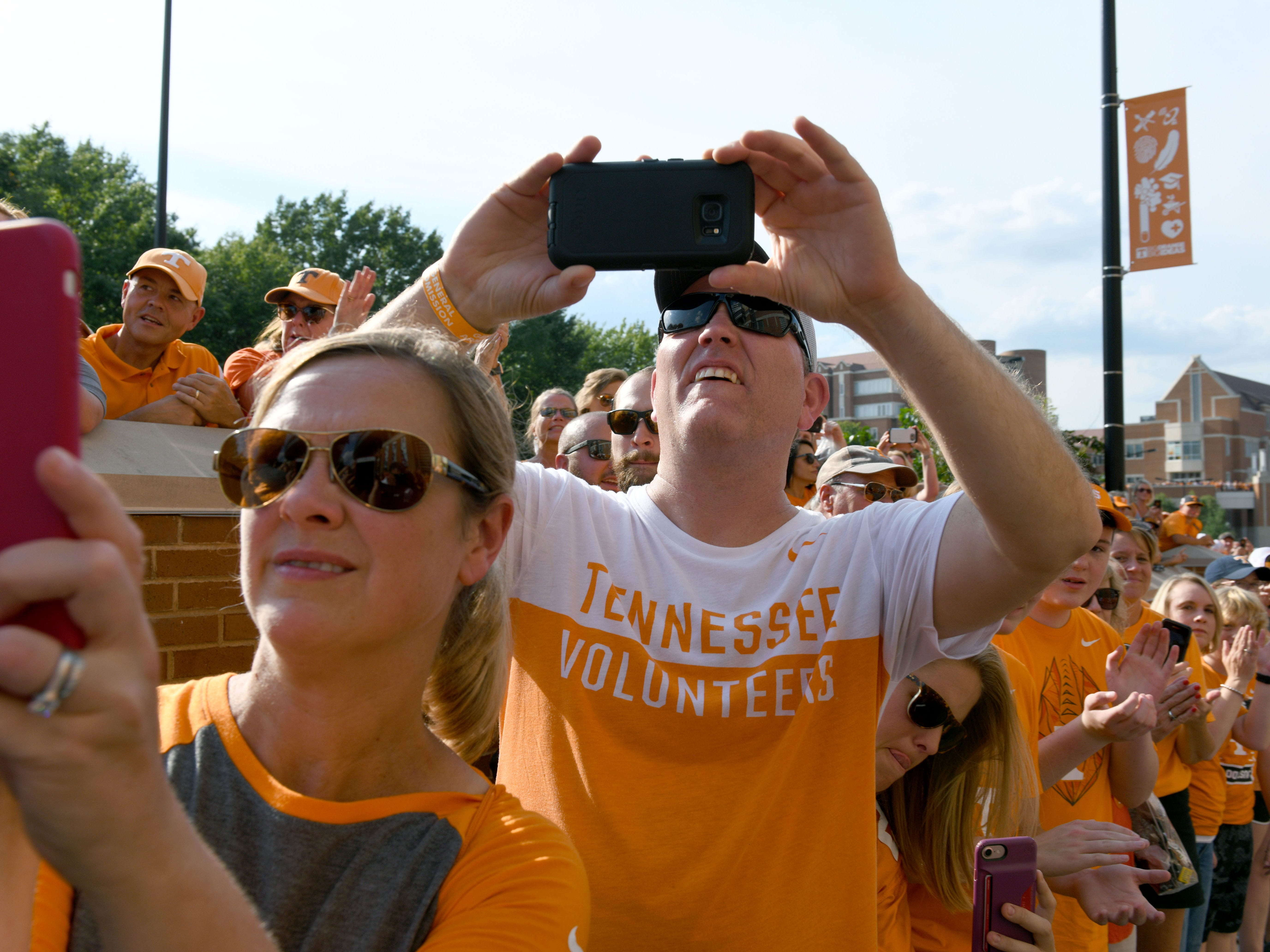 Fans during the Vol Walk before the game against Florida in Neyland Stadium Saturday, September 22, 2018 in Knoxville, Tenn.