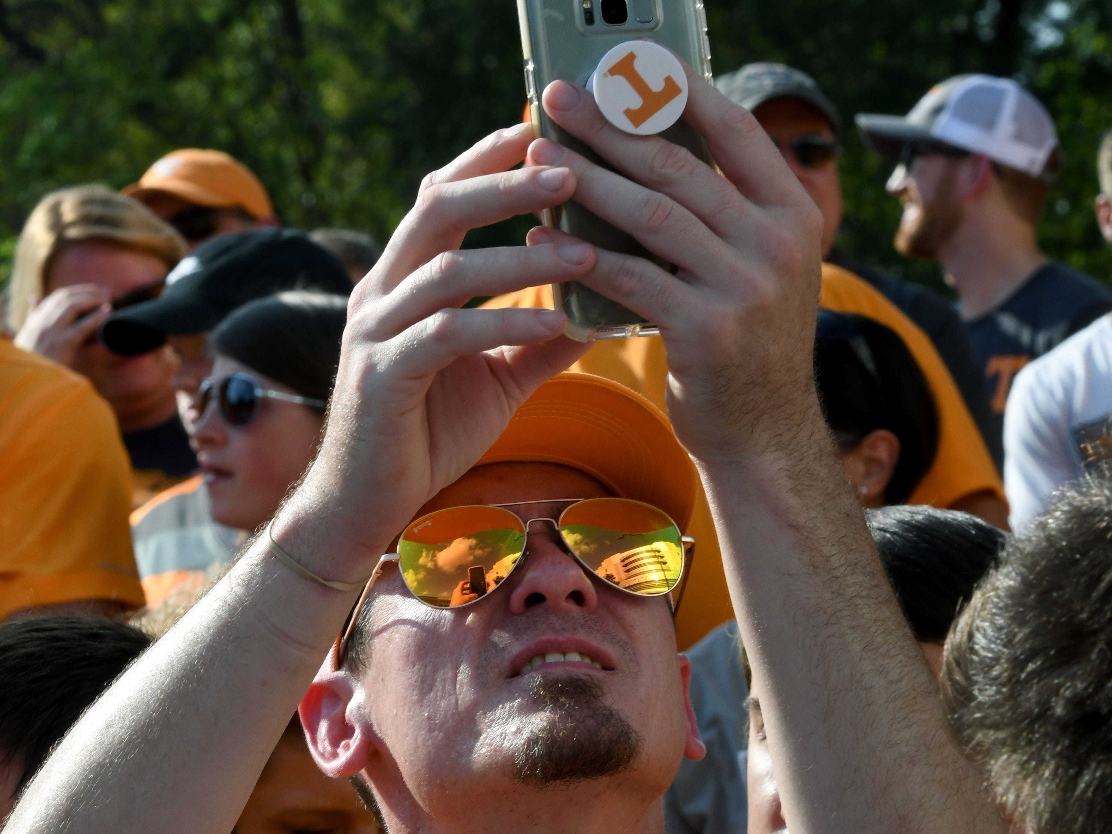Tennessee fans during the Vol Walk before the game against Florida in Neyland Stadium Saturday, September 22, 2018 in Knoxville, Tenn.