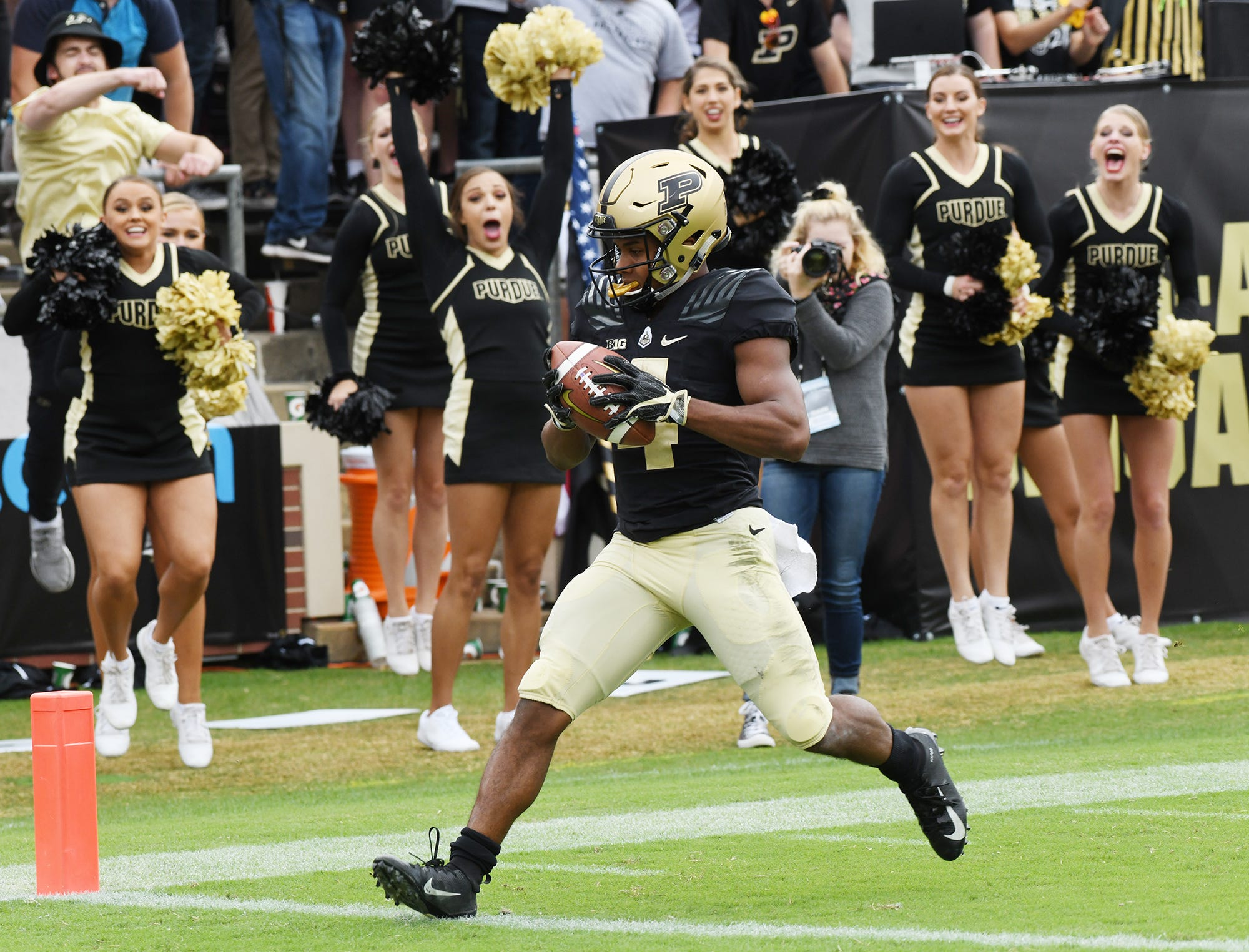 Purdue freshman receiver Rondale Moore has 57 catches for 728 yards and seven touchdowns this season.