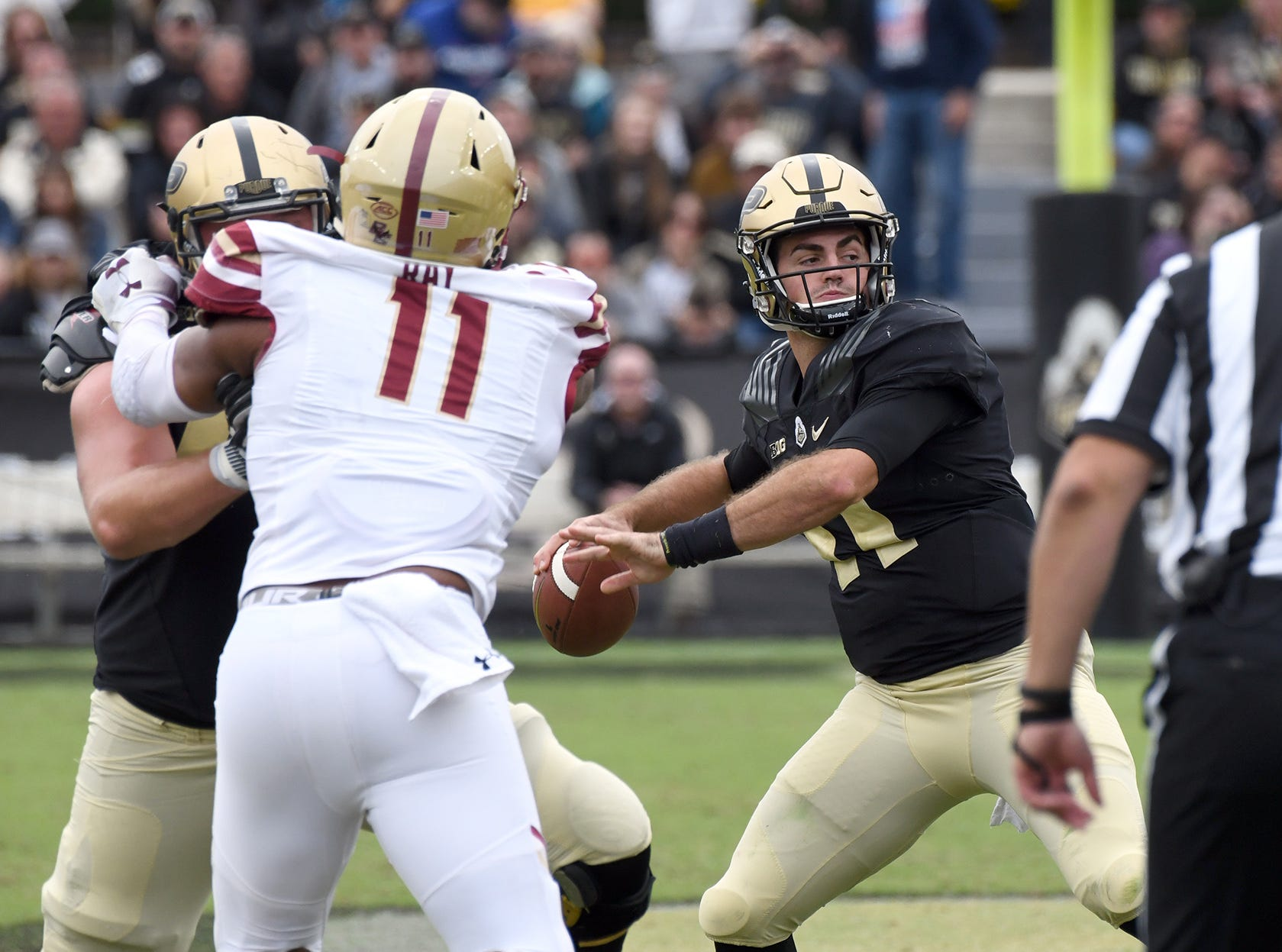 Purdue's David Blough in Purdue's 30-13 win in West Lafayette on Saturday September 22, 2018.