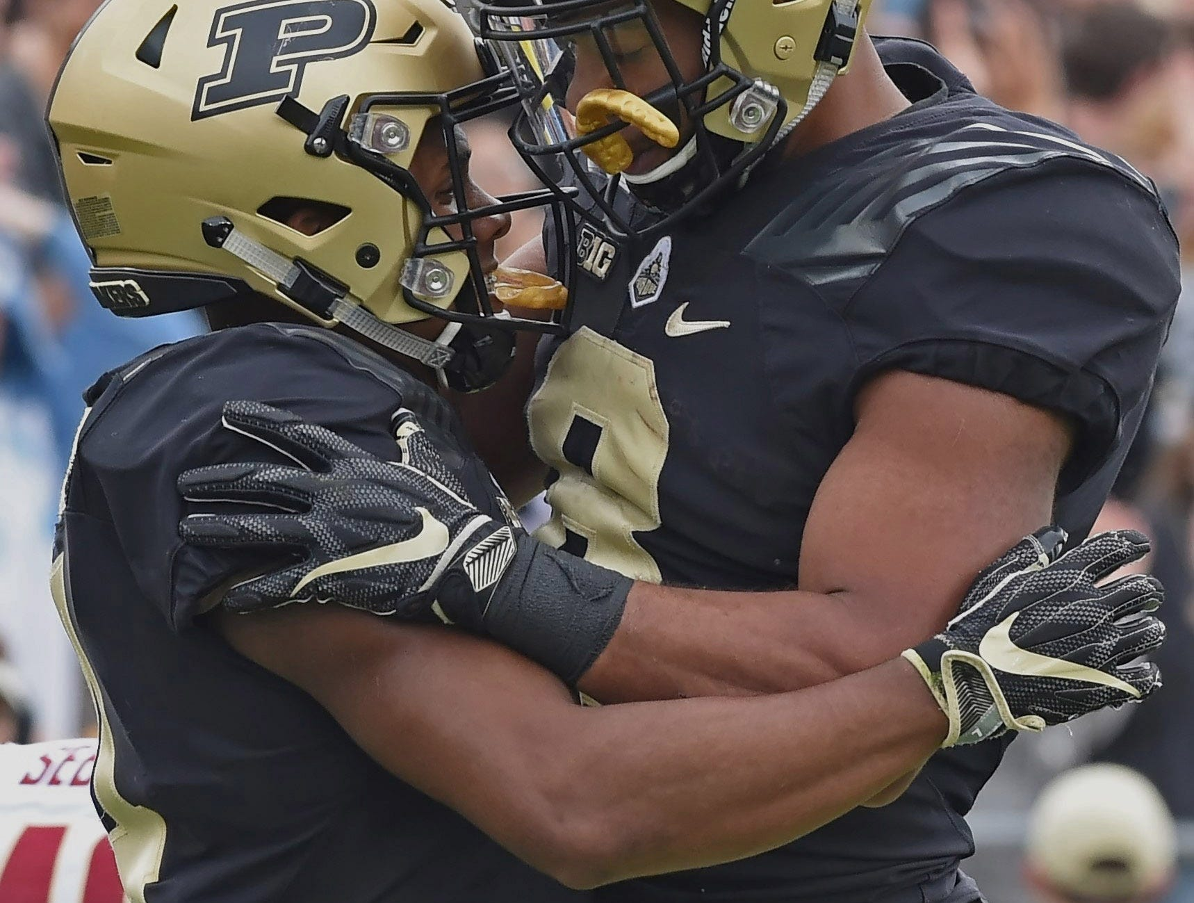 The Boiler faithful have something to cheer about against Boston College Saturday. Markell Jones and Rondale Moore.