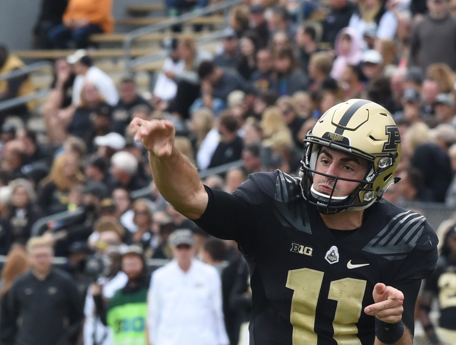 The Boiler faithful have something to cheer about against Boston College Saturday. David Blough