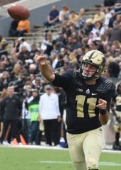 David Blough passes against Boston College.