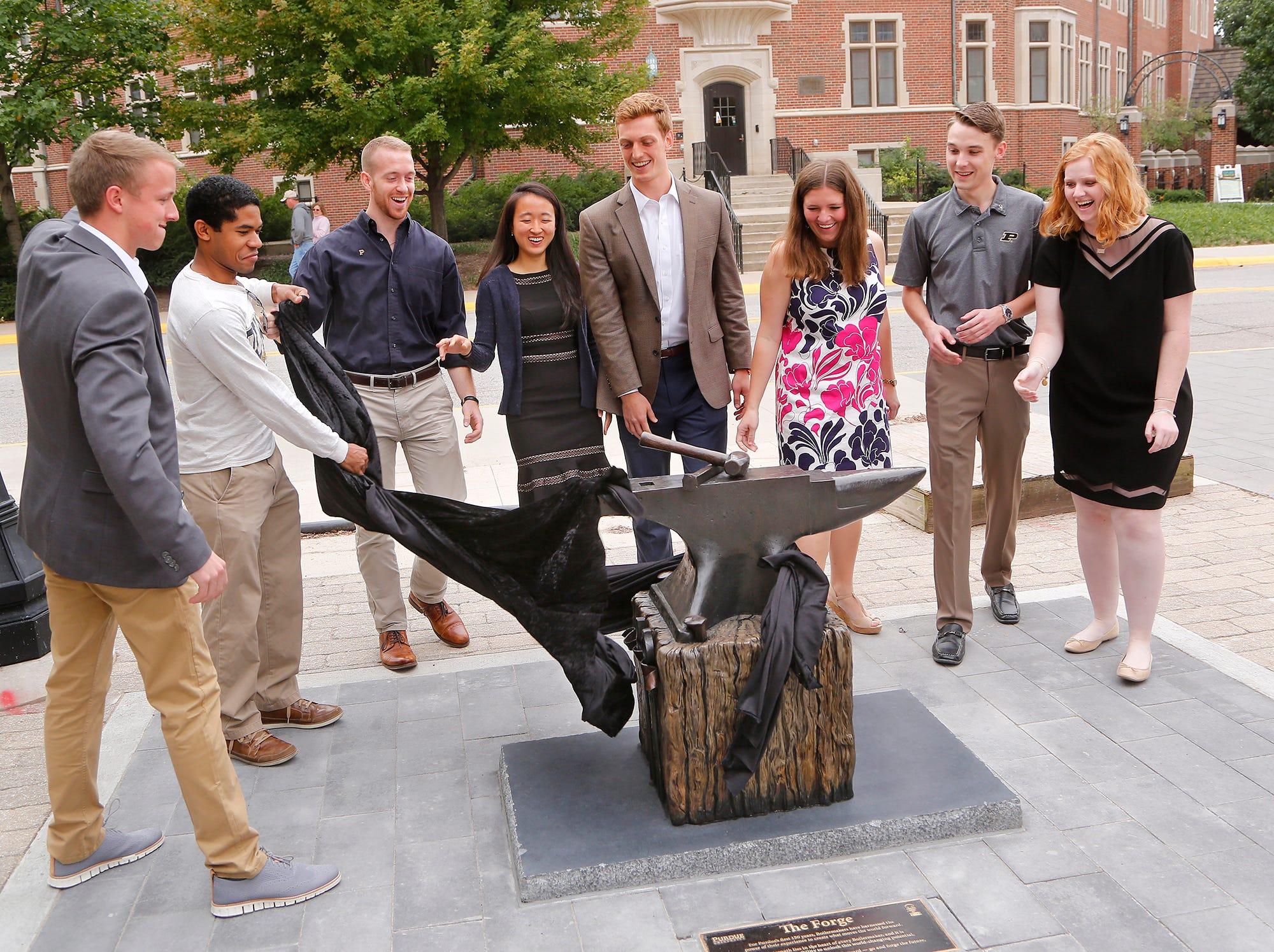 Laf Purdue Unveils The Forge Sculpture