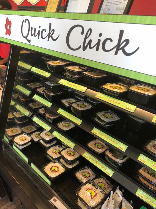 Chicken Salad Chick's Grab-n-Go Section.