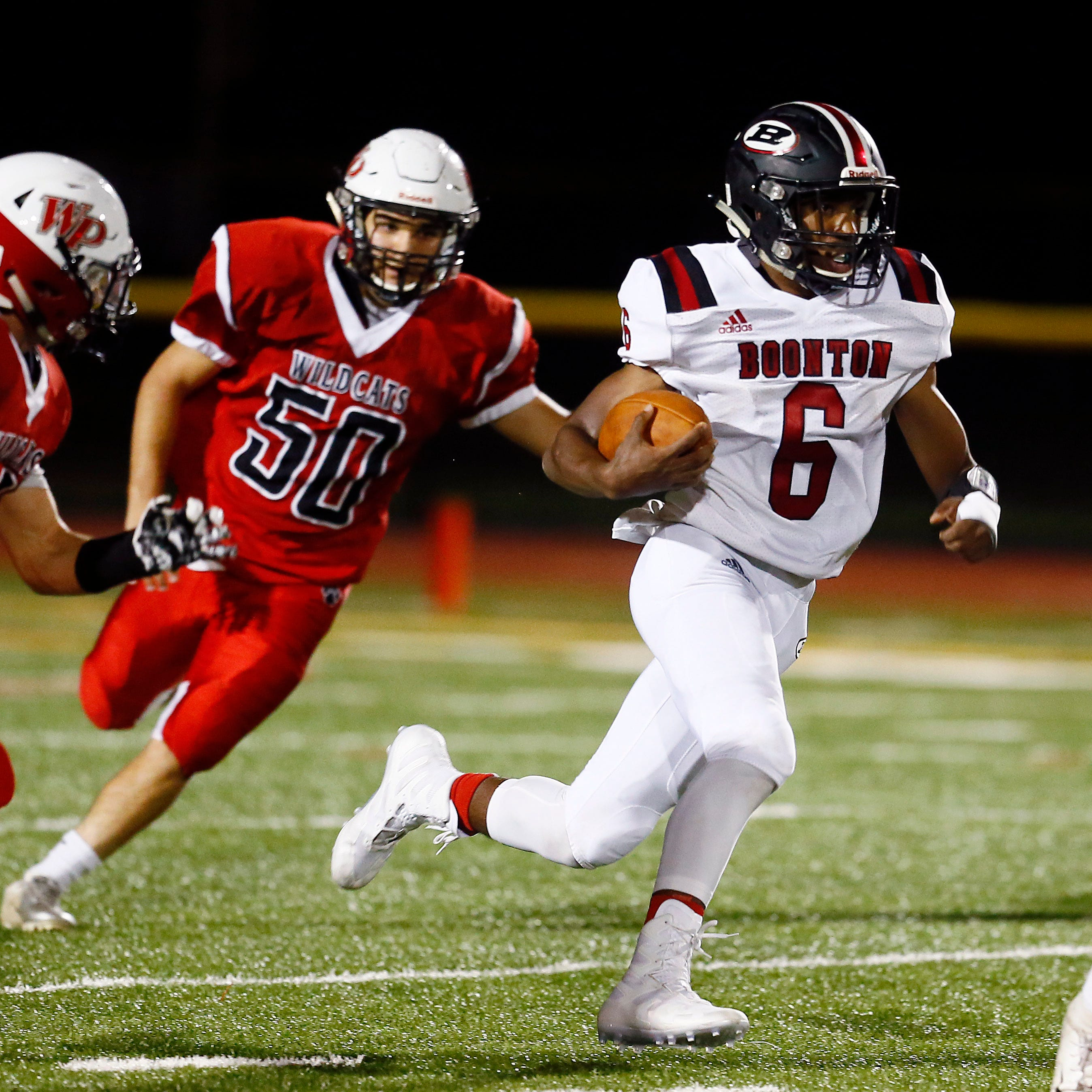 Boonton football runs away from Whippany Park
