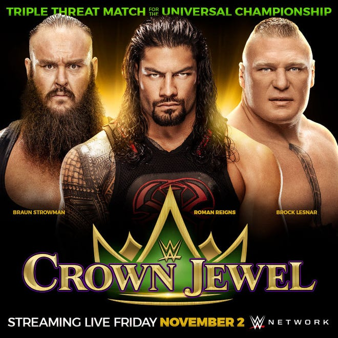 "WWE's ""Crown Jewel"" event is set for Nov. 2 in Saudi Arabia."