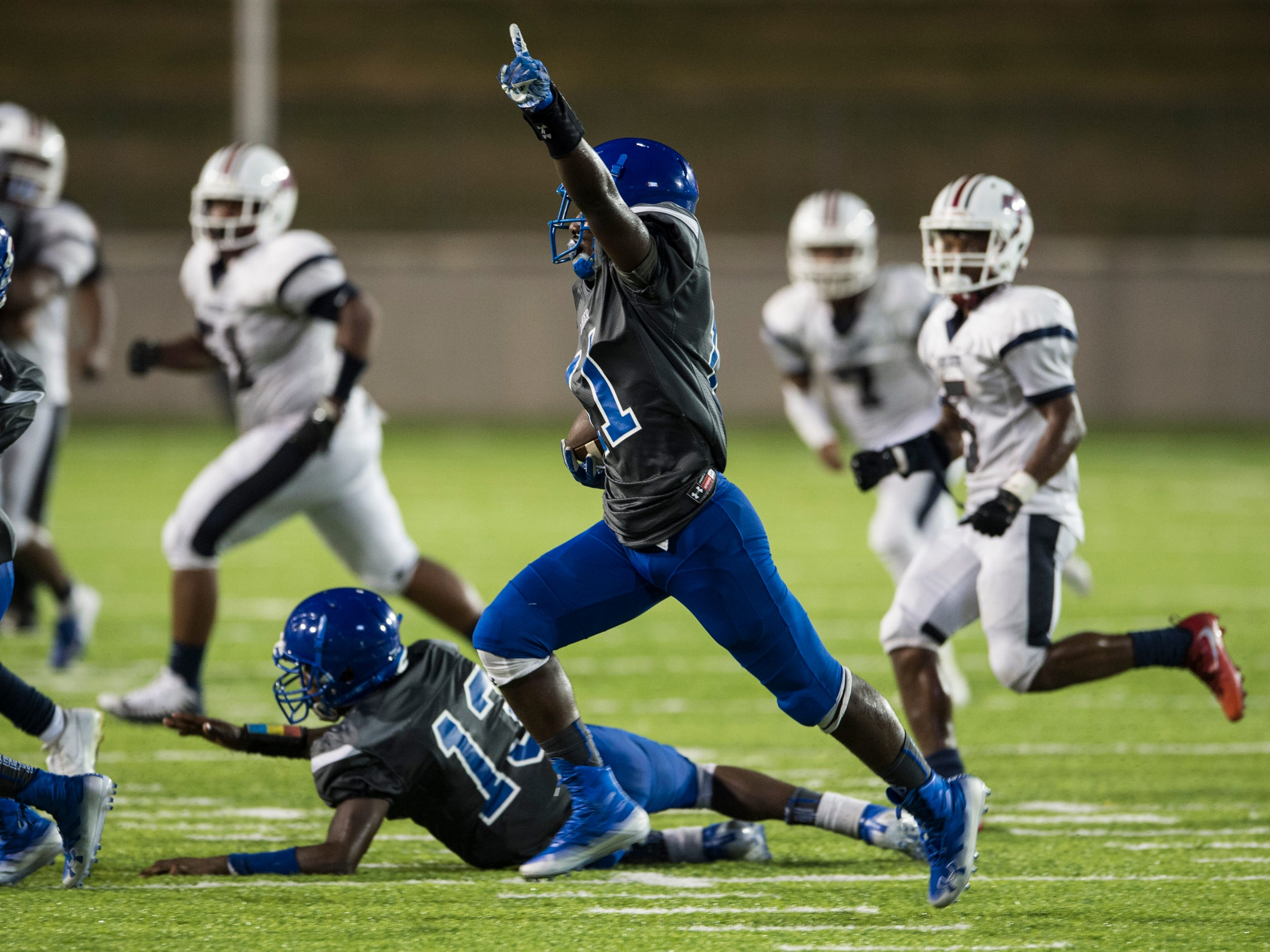 -at Cramton Bowl in Montgomery, Ala., on Friday, Sept. 21, 2018. Lanier defeated Park Crossing 35-28.