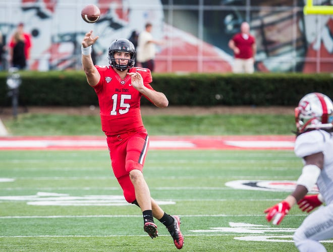 Former Ball State quarterback Riley Neal, shown here against Western Kentucky in the 2018 season, is transferring to Vanderbilt.