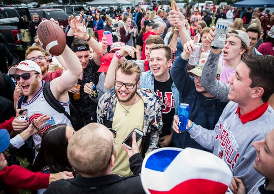 Fans flock to Scheumann Stadium for the Ball State versus WKU game Saturday.