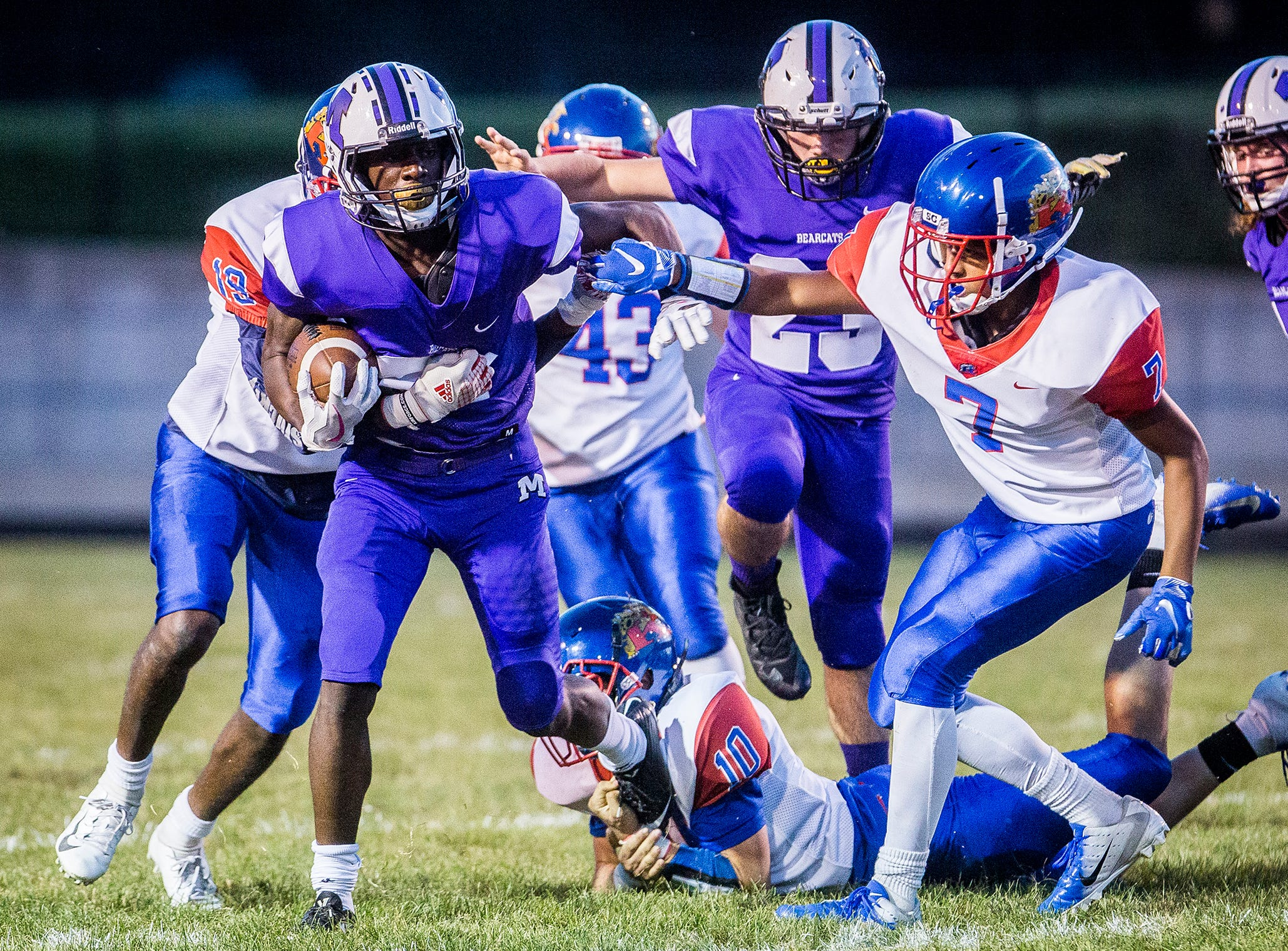 Central faces off against Kokomo during their game at Central Friday, Sept. 21, 2018.