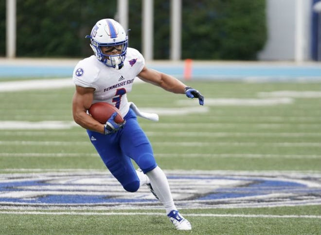 Chris Rowland led Tennessee State with eight catches for 82 yards and a touchdown in Saturday's 41-40 win at Eastern Illinois, but left the game in the fourth quarter with an injury.