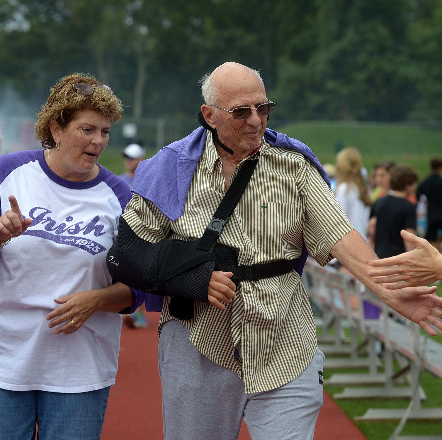 Father Ryan breaks record for most money per capita raised in Relay for Life event