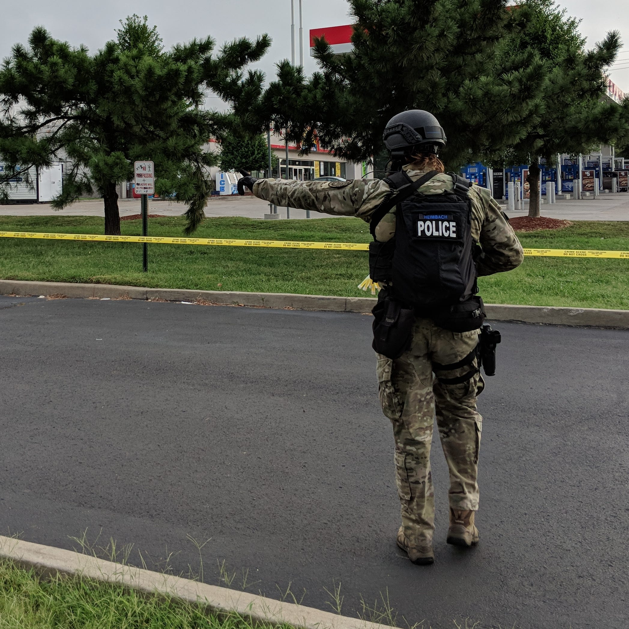 Man and teen charged in three-hour barricade situation outside Nissan Stadium