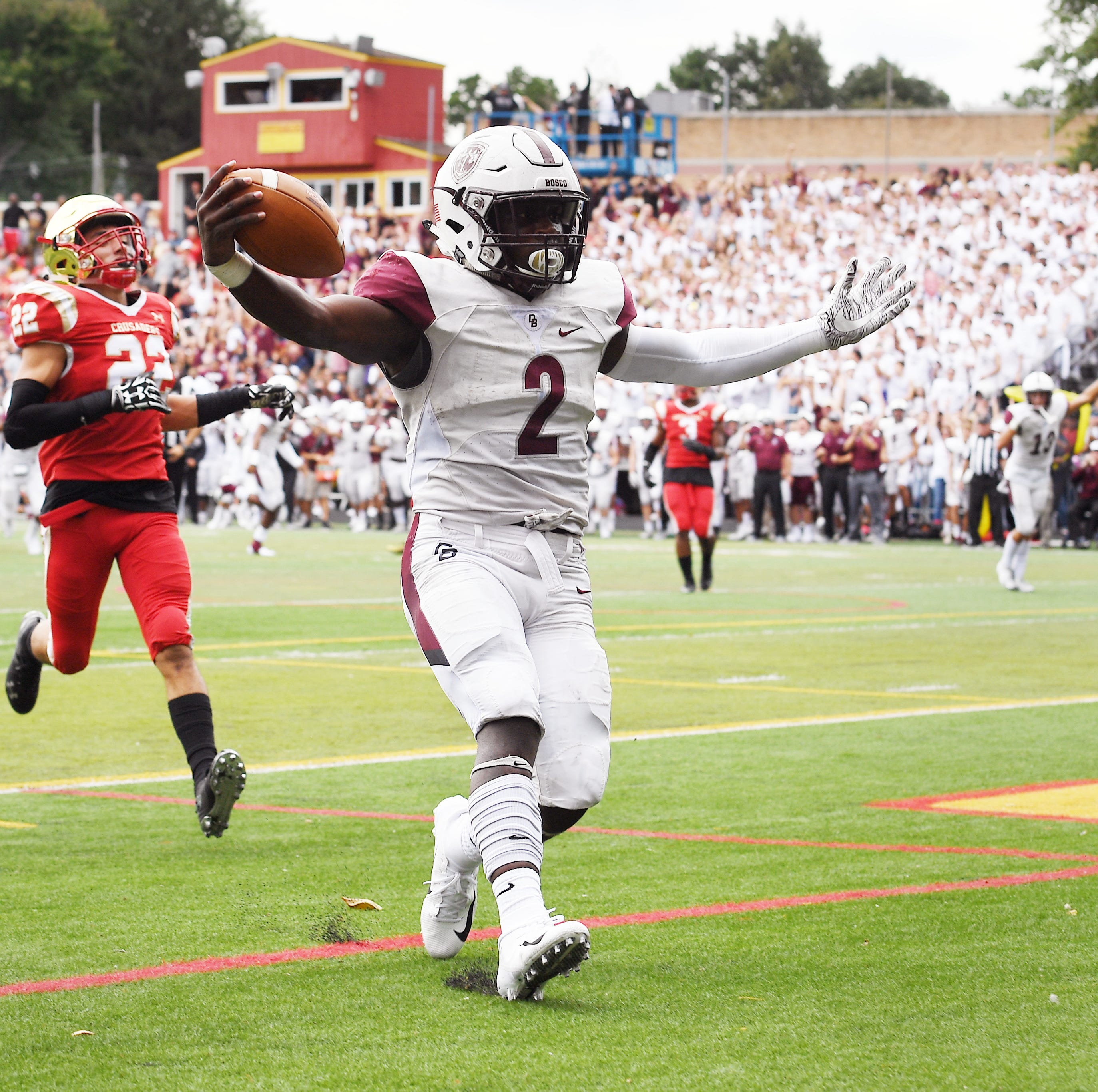 Don Bosco football upsets No. 2 DePaul behind big game by Kyle Monangai