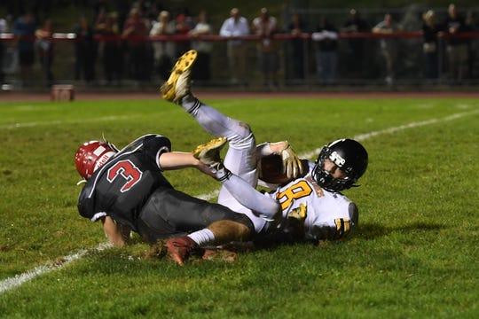 West Milford's Adam Rust scores a touchdown against Lakeland last season.