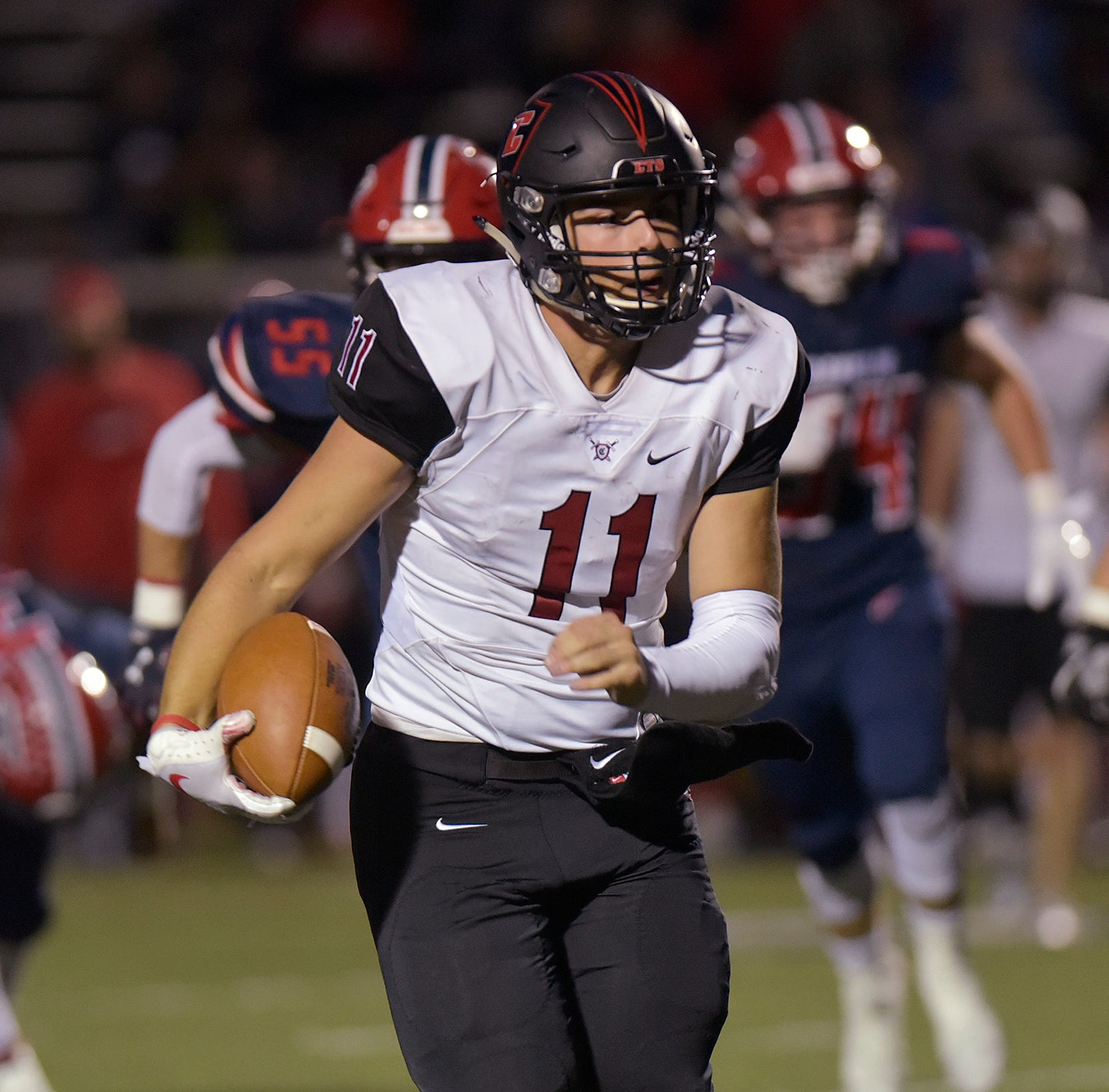 Livonia Churchill makes its way through football gauntlet to beat Franklin, 41-35