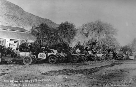 The Banning Route Boosters at The Desert Inn taken in 1909. Photo by W.W. Lockwood.